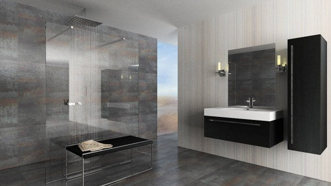 Faire une douche l italienne for Design douche italienne